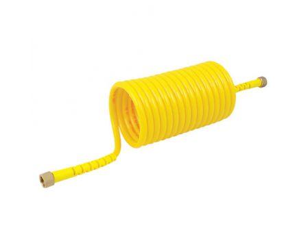 Hadice spirálová PA12 PHLY 12/8mm 5m žlutá s koncovkami