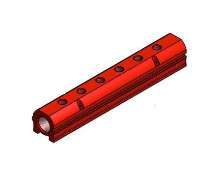 """Lišta jednostranná 3/4"""" 4x1/4"""" červená"""