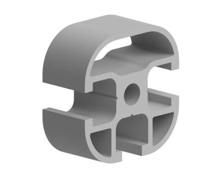 Profil hliníkový, série AC 30-6, 30x30, se 3 drážkami