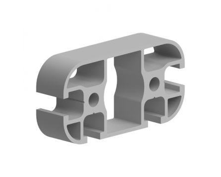 Profil hliníkový, série AC 30-6, 30x60, se 3 drážkami