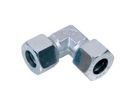 Koleno hydraulické F 10mm L nerez